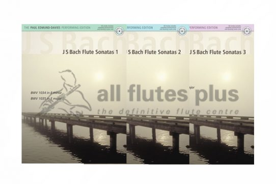 JS Bach Flute Sonatas-Flute and Piano-Edited by Paul Edmund Davies-Kevin Mayhew