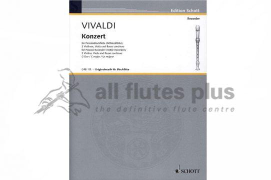 Vivaldi Piccolo Concerto in C Major-Piccolo and Piano-Schott