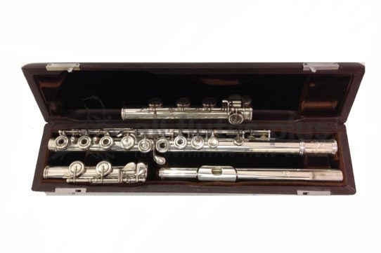 Brannen Cooper Silver Secondhand Flute with Separate C and B Foot-c8519