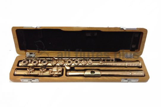 Louis Lot Gold Plated Secondhand Flute-c8521