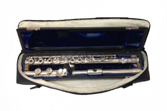 Arista Handmade Solid Silver Secondhand Flute Inline G Open Holes Solid Silver Handmade Flute No.519