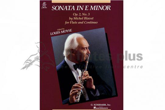 Blavet Sonata in E minor-Op.2 No.3-Edition Louis Moyse-Schirmer