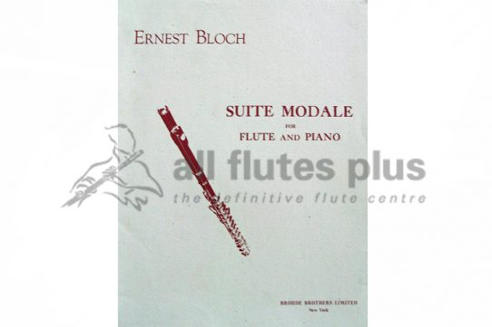 Bloch Suite Modale-Flute and Piano-Broude Brothers