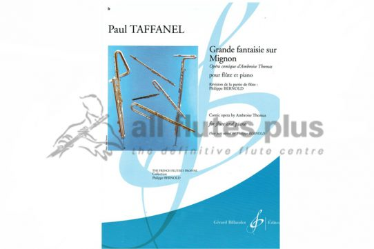 Taffanel Grande Fantaisie sur Mignon-Flute and Piano-Billaudot
