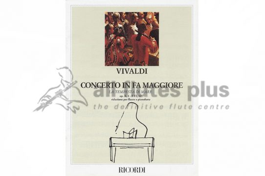 Vivaldi Concerto in F Major La tempesta Di Mare-Flute and Piano-Ricordi