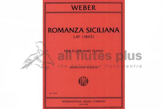 Weber Romanza Siciliana-Flute and Piano-IMC