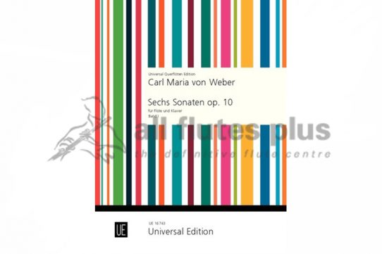 Weber Six Sonatas-Flute and Piano-Universal Edition