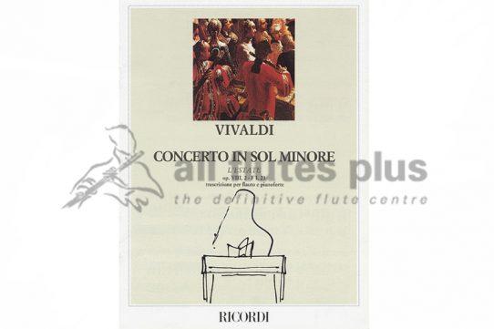 valdi Concerto in G Minor RV315 Opus 8 No 2-Flute and Piano-Ricordi
