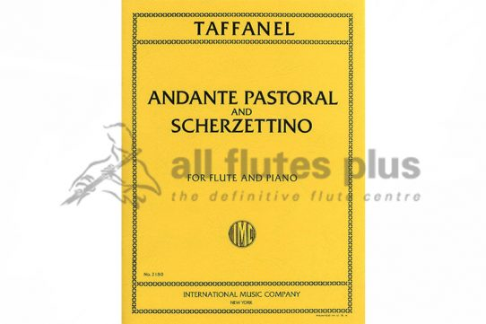 Taffanel Andante Pastoral and Scherzettino-Flute and Piano-IMC