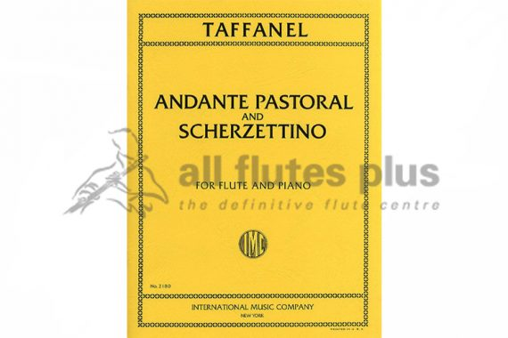Taffanel Andante Pastoral and Scherzettino-Flute and Piano-IMC