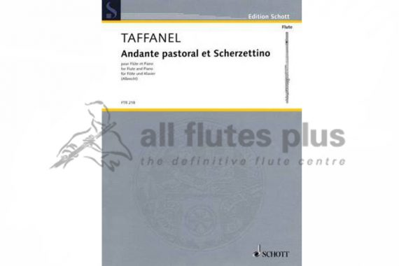 Taffanel Andante Pastoral and Scherzettino-Flute and Piano-Schott