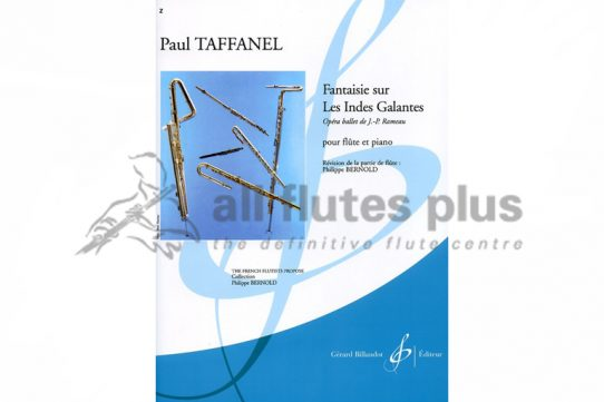 Taffanel Fantaisie sur Les Indes Galantes-Flute and Piano-Billaudot