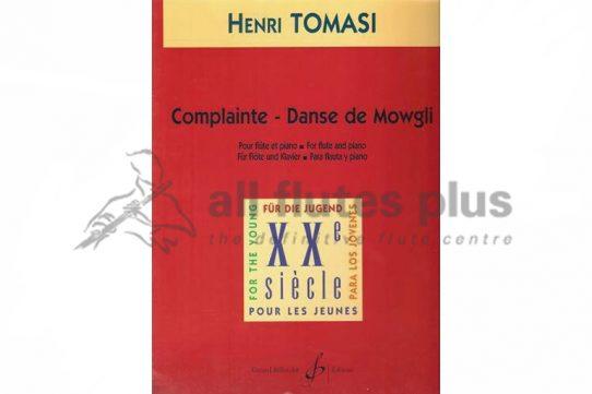 Tomasi Complainte-Danse de mowgli-Flute and Piano-Billaudot