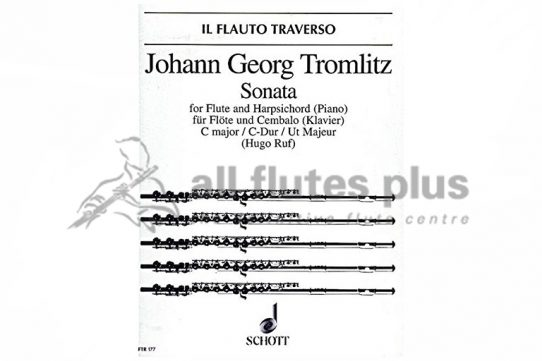 Tromlitz Sonata in C Major-Flute and Piano-Schott