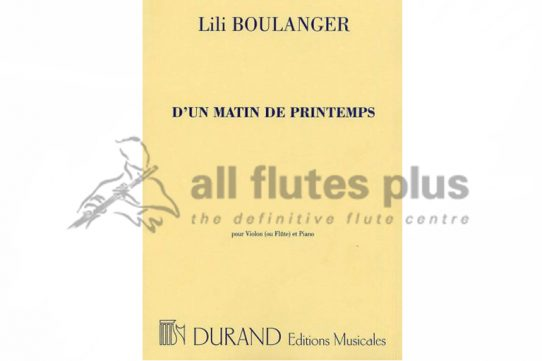 Boulanger D'un Matin du Printemps-Flute and Piano-Durand