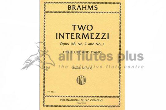 Brahms Two Intermezzi No 2 and No 1-Flute and Piano-IMC