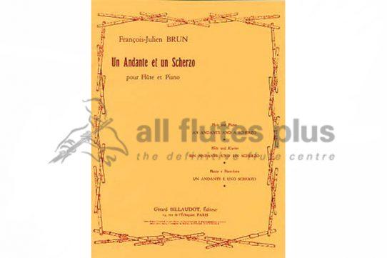 Brun-Un Andante et un Scherzo-Flute and Piano-Billaudot