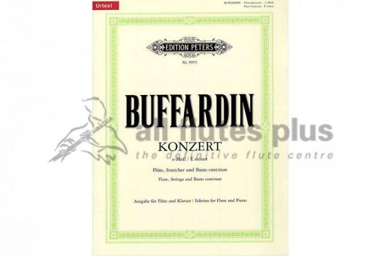 Buffardin Concerto in E Minor-Flute and Piano-Peters Edition