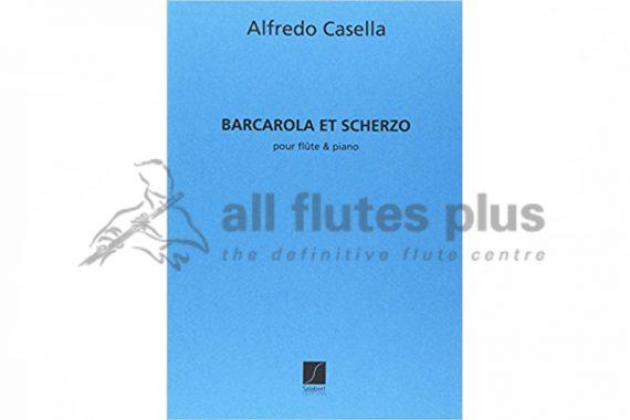 Casella Barcarola et Scherzo-Flute and Piano-Salabert