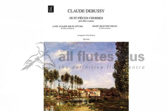 Debussy 8 Selected Pieces for flute and piano-Universal