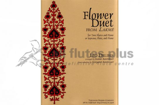 Delibes Flower Duet-Two Flutes and Piano-Theodore Presser