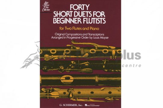 Forty Short Duets for Beginner Flutists-Two Flutes and Piano-Schirmer