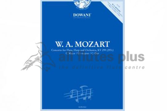Mozart Flute and Harp Concerto in C K299-Flute and Piano with CD-Dowani