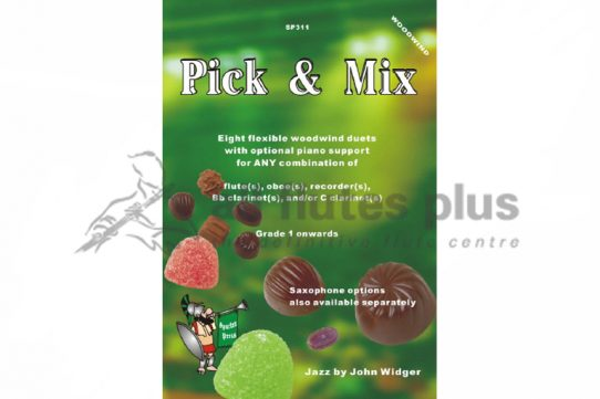 Pick and Mix Duets-Widger-Two Flutes and Piano-Spartan Press