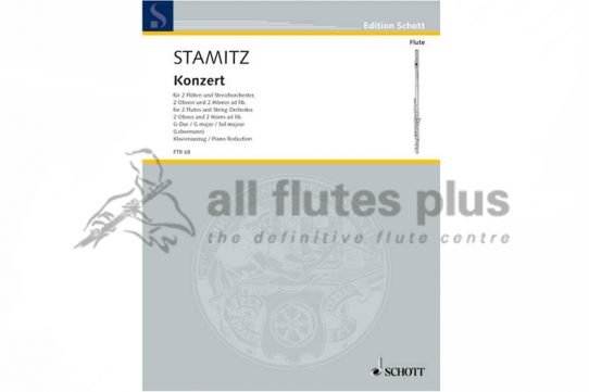 Stamitz Concerto in G Major-Two Flutes and Piano-Schott