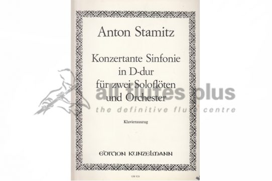 Stamitz Sinfonia Concertante in D Major-Two Flutes and Piano-Kunzelmann