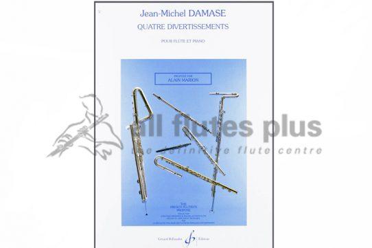 Damase Quatre Divertissements-Flute and Piano-Billaudot-Lemoine