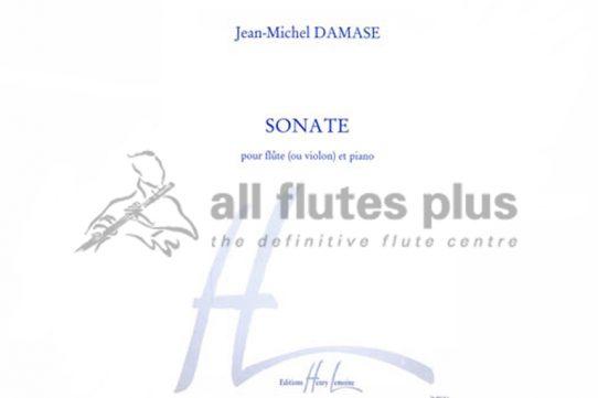 Damase Sonata No 1-Flute and Piano-Lemoine