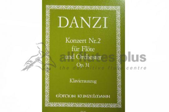 Danzi Concerto No 2 in D Minor Opus 31-Flute and Piano-Kunzelmann