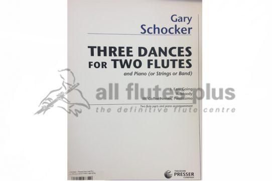 Schocker Three Dances-Two Flutes and Piano-Theodore Presser