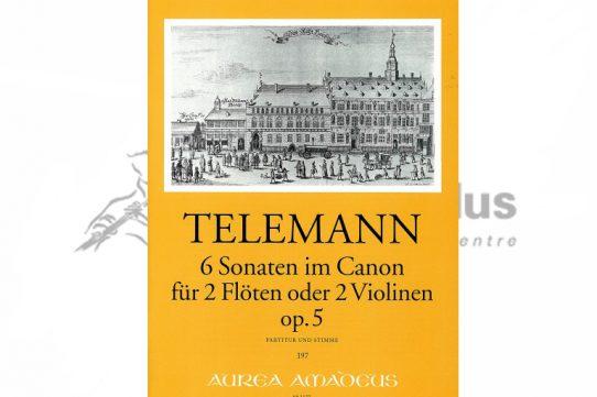 Telemann 6 Canonic Sonatas Op 5-2 Flutes-Amadeus
