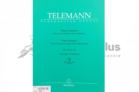 Telemann Nine Sonatas TWV 40 141-149-Two Flutes-Barenreiter