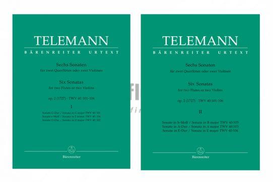 Telemann Six Sonatas Op 2-Two Flutes-Barenreiter