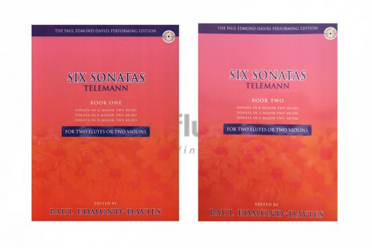 Telemann Six Sonatas-Two Flutes-Paul Edmund Davies Edition-Mayhew