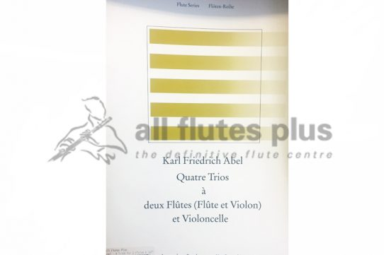 Abel Four Trios-Flute, Violin and Cello-Broekmans