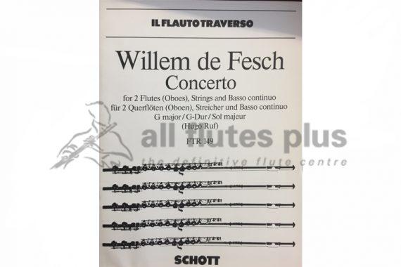 Willem de Fesch Concerto-2 Flutes, Strings and Basso Continuo-Schott
