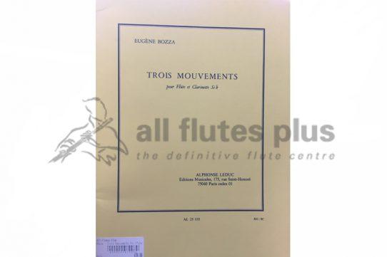 Bozza Trois Mouvements-Flute and Clarinet in Bb-Leduc