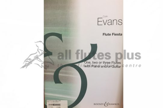 Evans Flute Fiesta-One, Two or Three Flutes with Piano and/or Guitar-Boosey and Hawkes