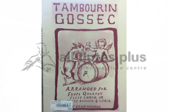 Gossec Tambourin-Flute Quartet/Flute Choir or Flute Soloists and Choir-Little Piper
