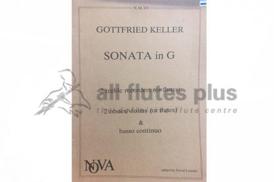 Keller Sonata in G-2 Flutes and Basso Continuo-Nova