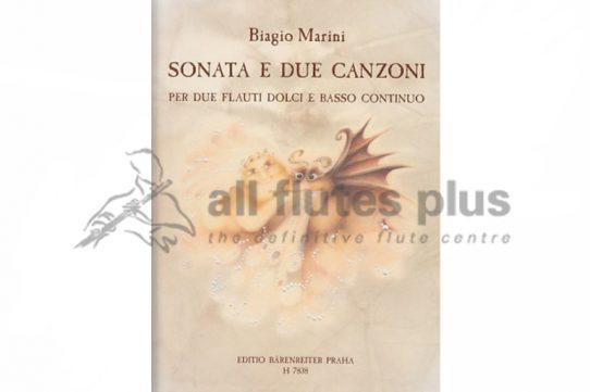 Marini Sonata E Due Canzoni-Flute and Basso Continuo-Edition Barenreiter Praha