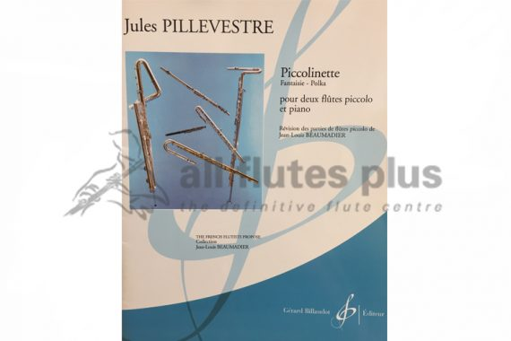 Pillevestre Piccolinette Fantaisie-Polka-2 Piccolos and Piano-Billaudot