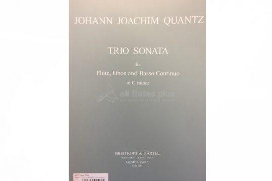 Quantz Concerto C Minor-Flute, Oboe and Basso Continuo-Breitkopf