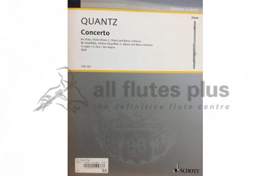 Quantz Concerto G Major-2 Flutes and Piano-Schott