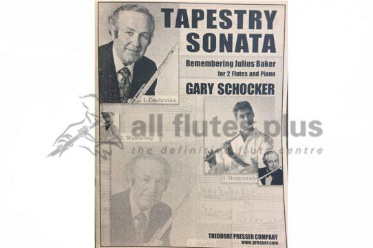 Schocker Tapestry Sonata-Two Flutes and Piano-Theodore Presser