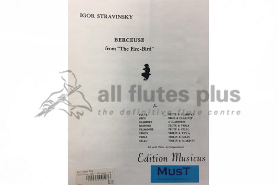 Stravinsky Berceuse from the Firebird-Flute and Clarinet-MusT